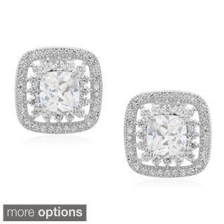 Journee Collection Brass Cubic Zirconia Earrings