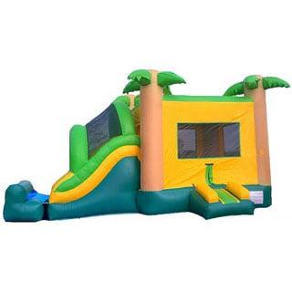 JumpOrange Tropical Mega Wet/ Dry Slide Combo Bouncy House