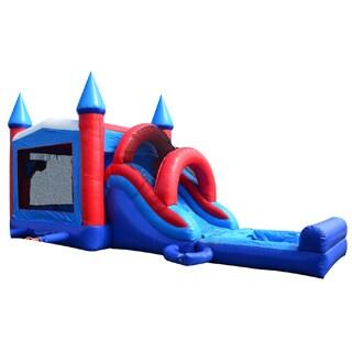 JumpOrange Patriot Mega Wet/ Dry Bouncy House and Slide Combo