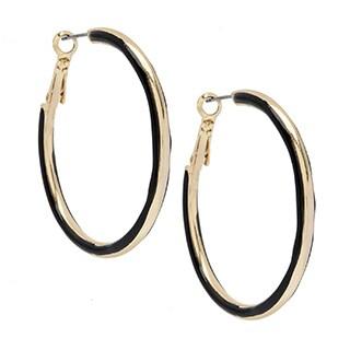 Alexa Starr 2-sided Epoxy Hoop Earrings