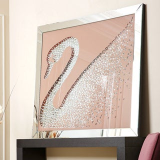 Abbyson Living Swan Crystal Wall Mirror