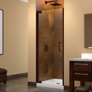 Dreamline Elegance 34 - 36 in. W x 72 in. H Frameless Pivot Shower Door