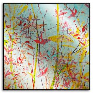 Sia Aryai's 'Radiant Foliage III' Metal Art