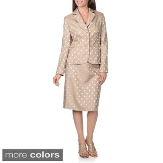 Danillo Women's Polka-dot Skirt Suit