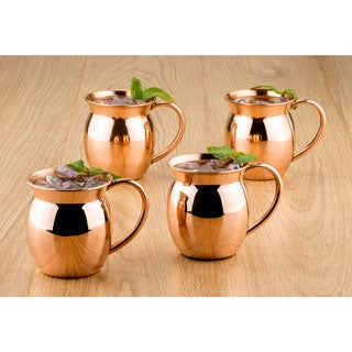 Old Dutch 16-ounce Solid Copper Moscow Mule Mug (Set of 4)