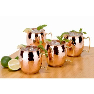 Old Dutch 16-ounce Solid Copper Hammered Moscow Mule Mug (Set of 4)