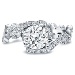 Auriya 14k White Gold 1 1/2ct TDW Round Diamond Engagement Ring (H-I, SI1-SI2)