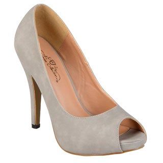 Journee Collection Women's 'Lois' Peep-toe Platform Pumps