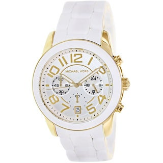 Michael Kors Women's MK5889 Mercer White Silicone Quartz Watch