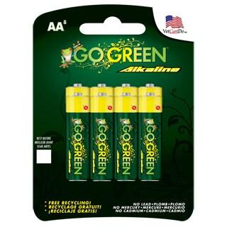 Go Green Alkaline AAA Battery (8 Pack)