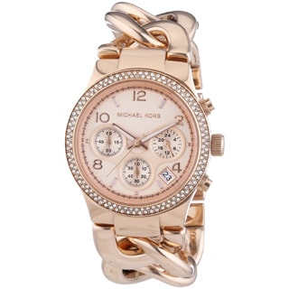 Michael Kors Women's MK3247 Runway Twist Rosegold Watch