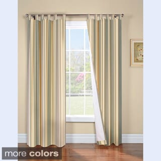 Weathermate Broadstripe Insulated Tab Top Curtain Panel Pair
