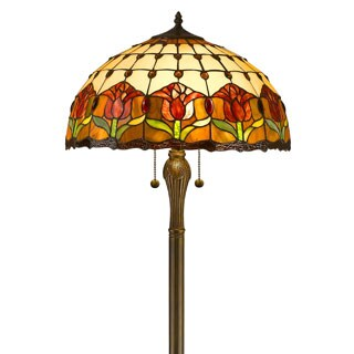 Amora Lighting Tiffany Style Tulips Design 62-inch Floor Lamp