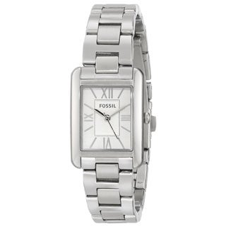 Fossil Women's Florence ES3325 Silvertone Stainless Steel Quartz Watch with Silvertone Dial
