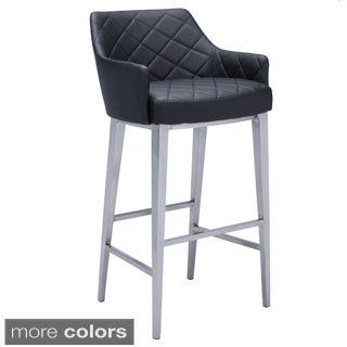 Sunpan Chase Faux Leather Bar Stool