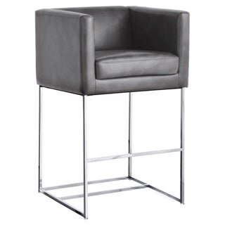 Sunpan Agency Grey Contemporary Bar Stool