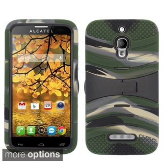 INSTEN Screen Shield Kickstand Dual Hybrid Phone Case Cover for Alcatel One Touch Fierce
