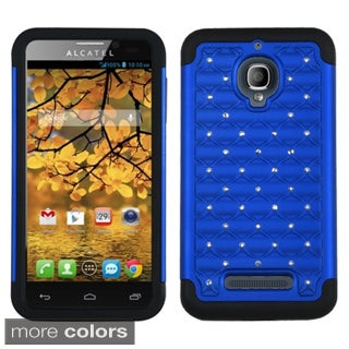 INSTEN PC Soft Silicone Dual Hybrid Phone Case Cover for Alcatel One Touch Fierce 7024W