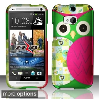 BasAcc Owl Colorful Cute Cartoons Animal Rubberized Hard Case for HTC One 2 M8