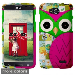 INSTEN Owl Colorful Cute Cartoons Rubberized Hard Plastic Phone Case Cover for LG Optimus L90 D415