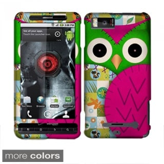 INSTEN Owl Cute Cartoons Rubberized Hard Plastic Phone Case Cover for Motorola Droid X MB810