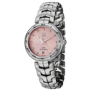 Tag Heuer Women's WAT2313.BA0956 Link Lady Automatic Diamond Pink Dial Stainless Steel Watch