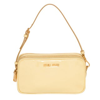 Miu Miu 'Vernice' Yellow Patent Leather Mini Bag
