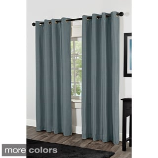 Venice Faux Silk Grommet Top Curtain Panel Pair
