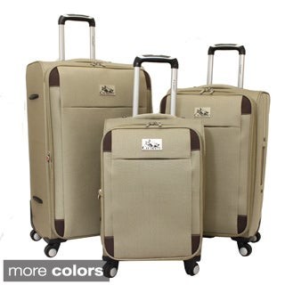 Chariot Milan 3-piece Lightweight Spinner Luggage Set