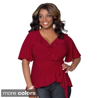 Kiyonna Women's Plus Size Whimsical Wrap Top