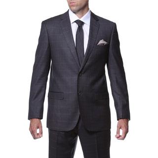 Ferrecci Men's 'Lincoln' Slim Fit Charcoal Plaid Tone on Tone 2-piece Suit