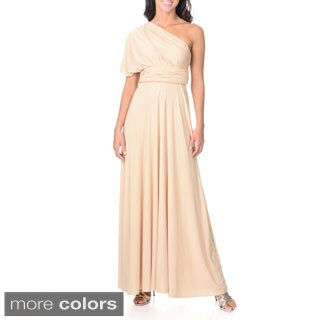 Von Ronen Women's Multi Way Wrap Bridesmaid Maxi Dress Long Cocktail Gown (One Size Fits 0-12)
