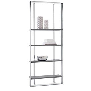Sunpan 'Club' Dalton Stainless Steel Bookshelf