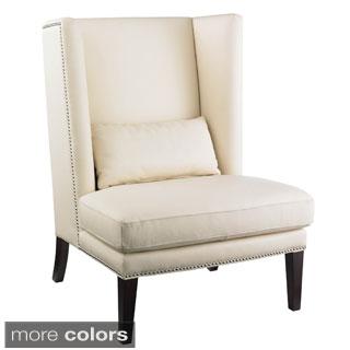 Sunpan Malibu Wing Back Leather Chair
