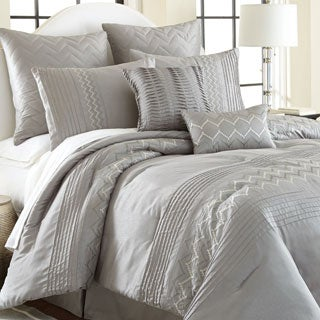Reagan Gray 8-piece Embroidered Comforter Set