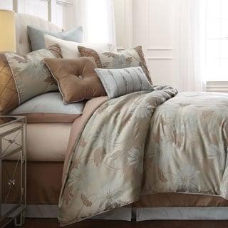 Penelope Floral 8-piece Jacquard Comforter Set
