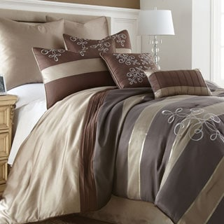 Reve Striped 8-piece Jacquard Comforter Set