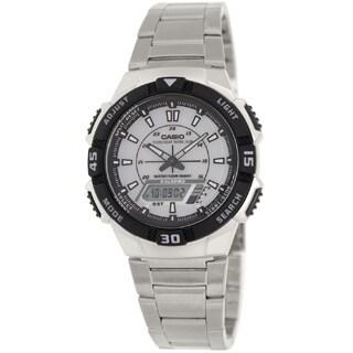 Casio Men's Core AQS800WD-7EV Stainless Steel Quartz White Dial Watch