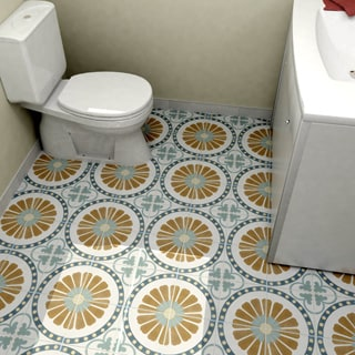SomerTile 7.75x7.75-inch Renaissance Ring Ceramic Floor and Wall Tile (Case of 25)