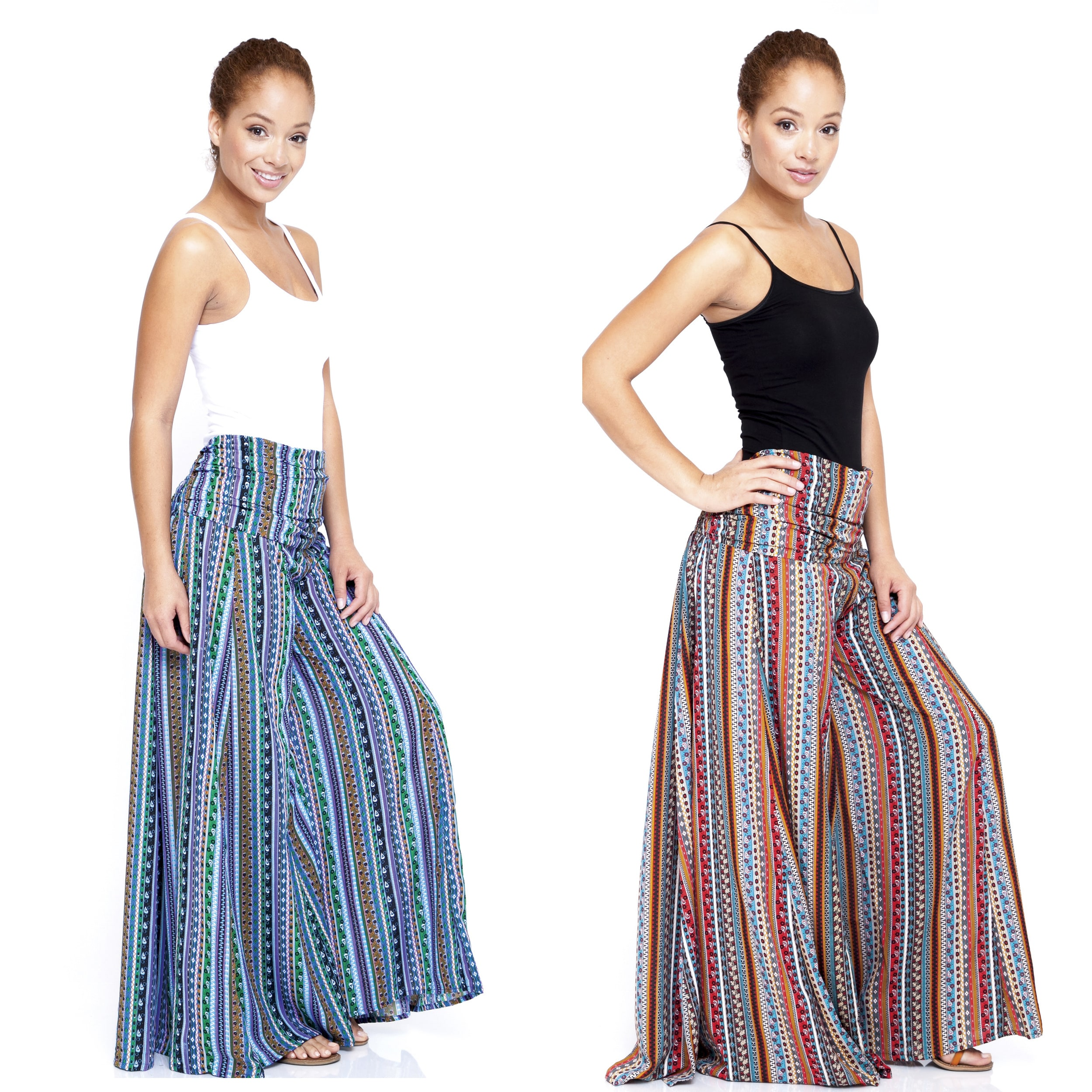 Women's Floral Printed Wide-leg Palazzo Pants (India)