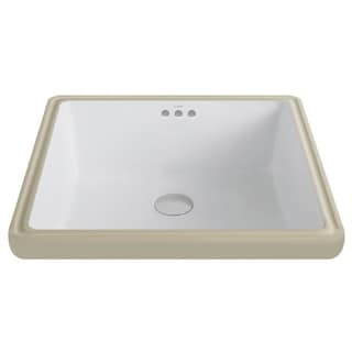 Kraus White Square Ceramic Undermount Bathroom Sink
