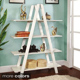 Furniture of America Teraza Modern Four-Tier Bookshelf