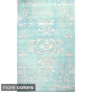 Hand-knotted Medallion Wool Area Rug (5' x 8')