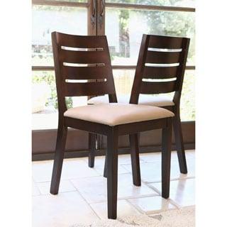 Abbyson Living Bermuda Light Brown Fabric Dining Chair (Set of 2)
