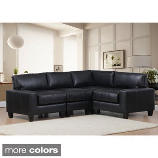 Lasalle Bonded Leather Four-piece Sectional