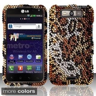 INSTEN Design Diamond Bling Hard Plastic Phone Case Cover for LG Connect 4G MS840/ Viper 4G LS840
