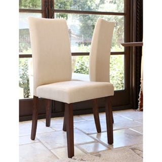 ABBYSON LIVING Leonis Fabric Dining Chair (Set of 2)