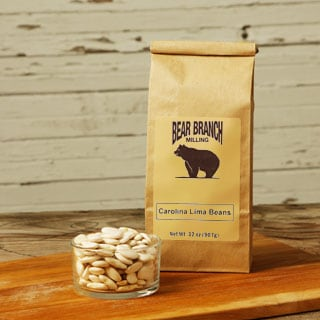 Bear Branch Milling Old-fashioned Dried Carolina Lima Beans (12 Pounds)