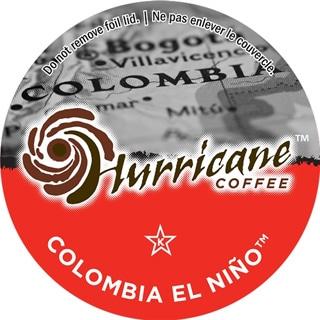Hurricane Coffee Columbia El Nino Single Serve Coffee K-Cups