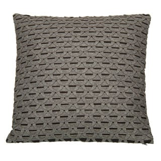 18 x 18-inch Tambura Grey Decorative Pillow